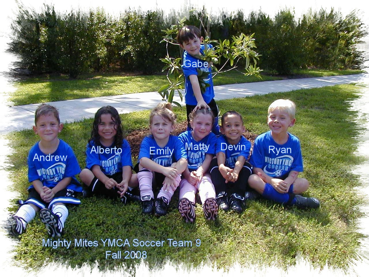 Mighty Mites YMCA Soccer Team 9